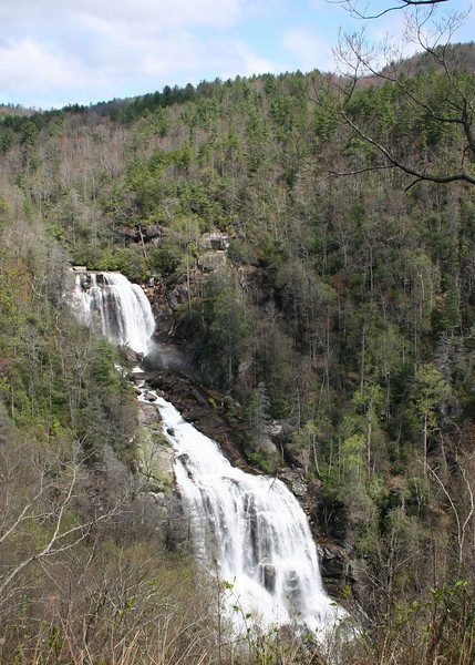 Whitewater Falls, Cashiers, NC as seen from the top