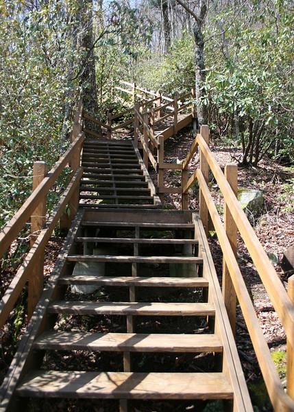 Some of the steps to the observation platform
