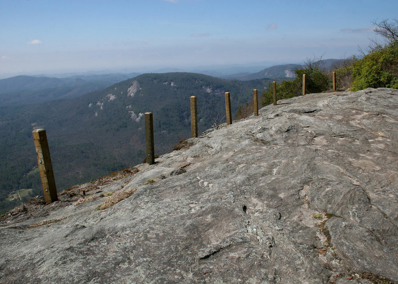 The plateau at the top