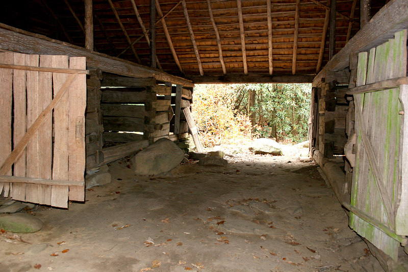 Inside of the Ogle barn