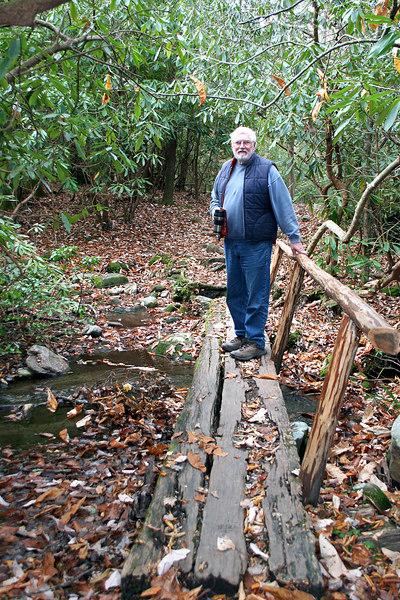 Mike along nature trail at Ogle farm