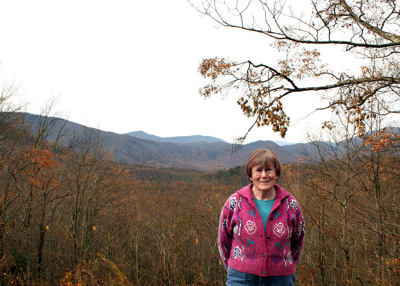 Susan on the Roaring Fork Loop in the Smokey Mountains, TN
