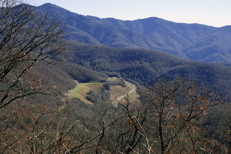 Valley from Plott Balsams Ridge along the Blue Ridge drive