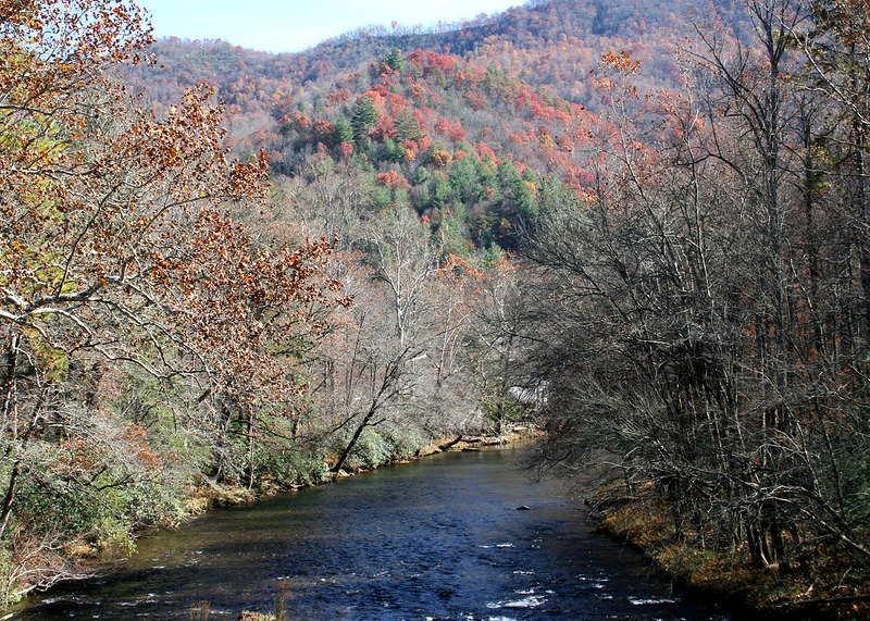 Oconnalufee River along the Blue Ridge drive out of Cherokee, NC