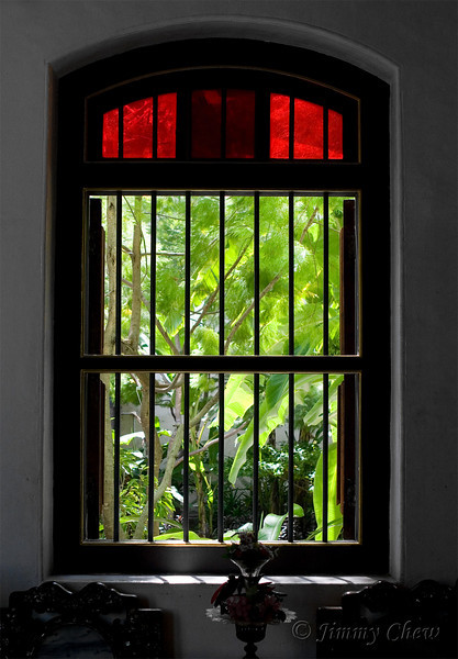 Window at Pinang Peranakan Mansion.