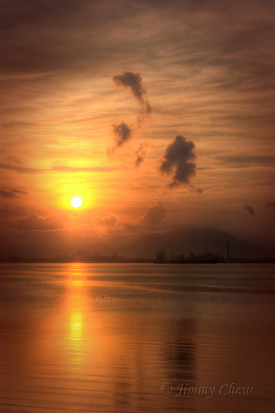 Sunrise at Penang Straits.