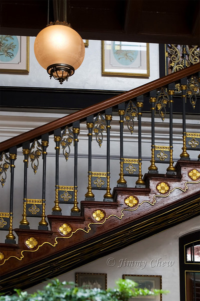 Staircase at Pinang Peranakan Mansion.