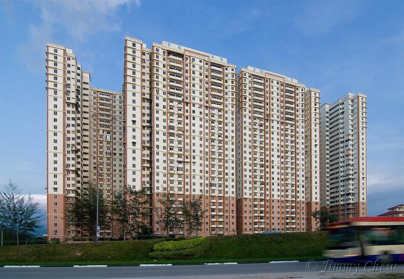 Apartment facing Penang Straits.