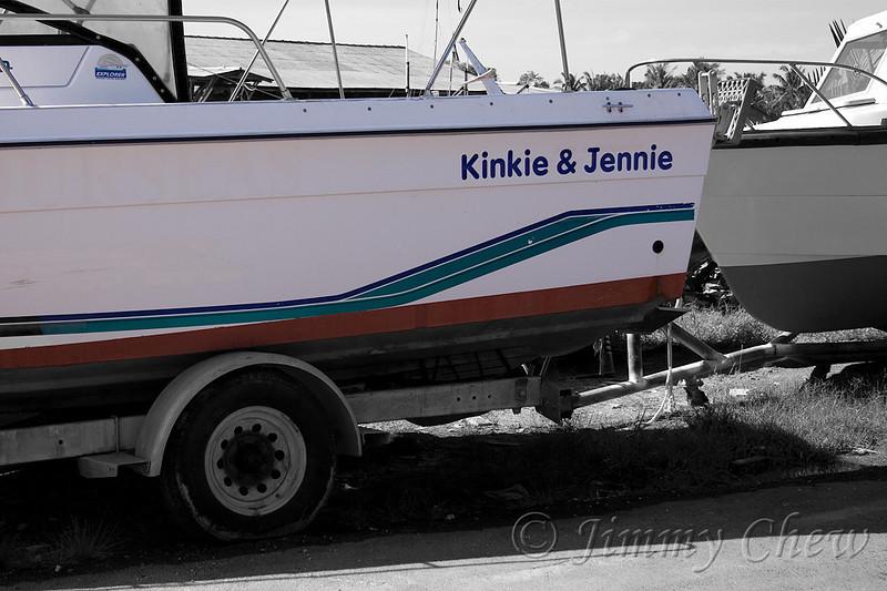 Cute name for a boat - Kinkie & Jennie