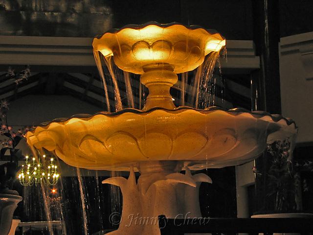 Fountain at lobby.