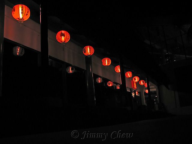 """<font color=""""yellow"""">Outside the Chinese restaurant.</font><br>"""