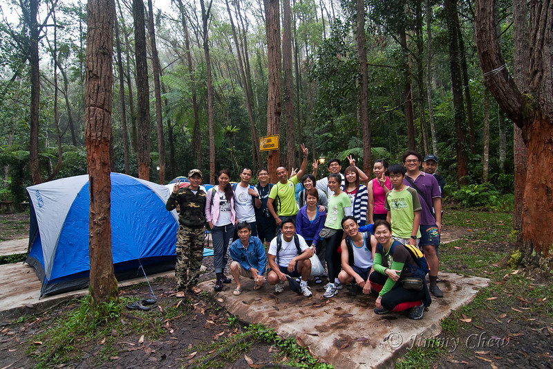 Group photo before the group leaves for Gunung Irau day hike.