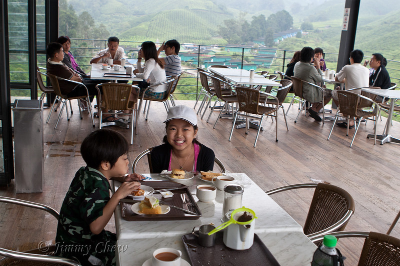Light breakfast at BOH Tea Centre at Sungai Palas tea plantation.