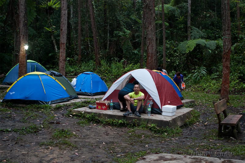 Camp site can easily accommodate more than 10 tents.