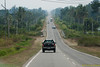Long straight road ahead to seemingly no where.