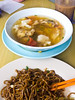 Kedai Kopi Tong Fung is famous for this noodles served with Estuary Garoupa.