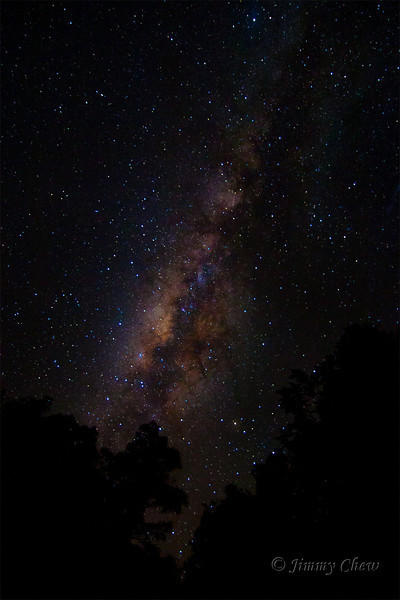 Milky Way as seen from Nepenthes Satellite Camp.