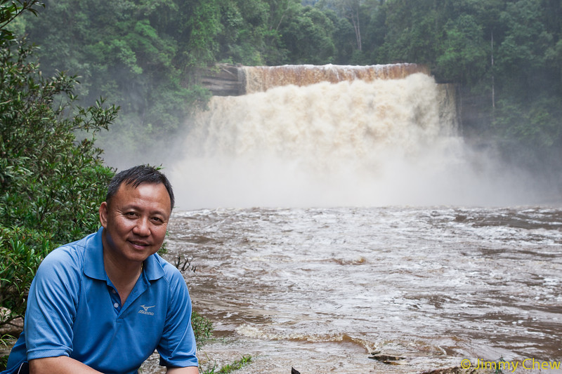 James posing with Maliau Falls.