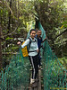Suspension bridge at Nepenthes Camp.<br /> <br /> Janelle and James.