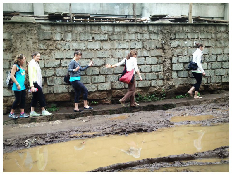 walking through the informal settlements to the homes of some of our rafikis