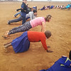 getting down in the African soil with a little yoga