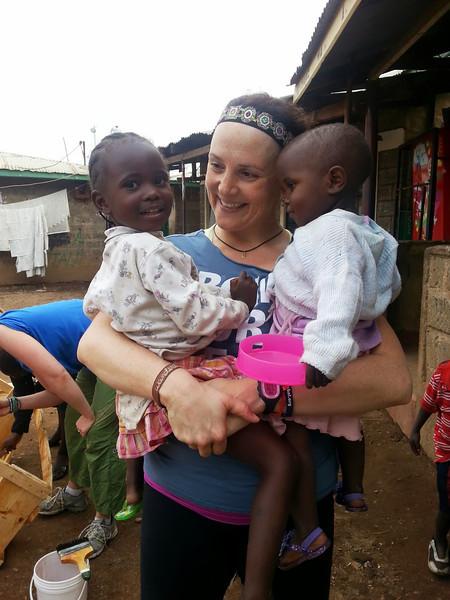 Kate loving the kids