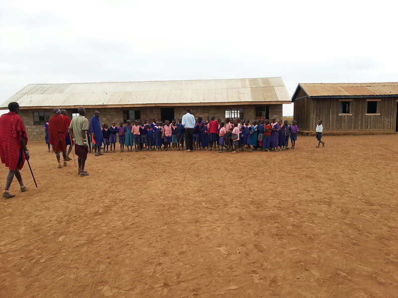 the Masai village school which was just built by AYP ambassadors.