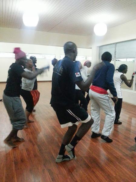 dancing between yoga classes