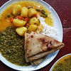 The meal we had every day at the Shine Center made by the Hare Krishnas.