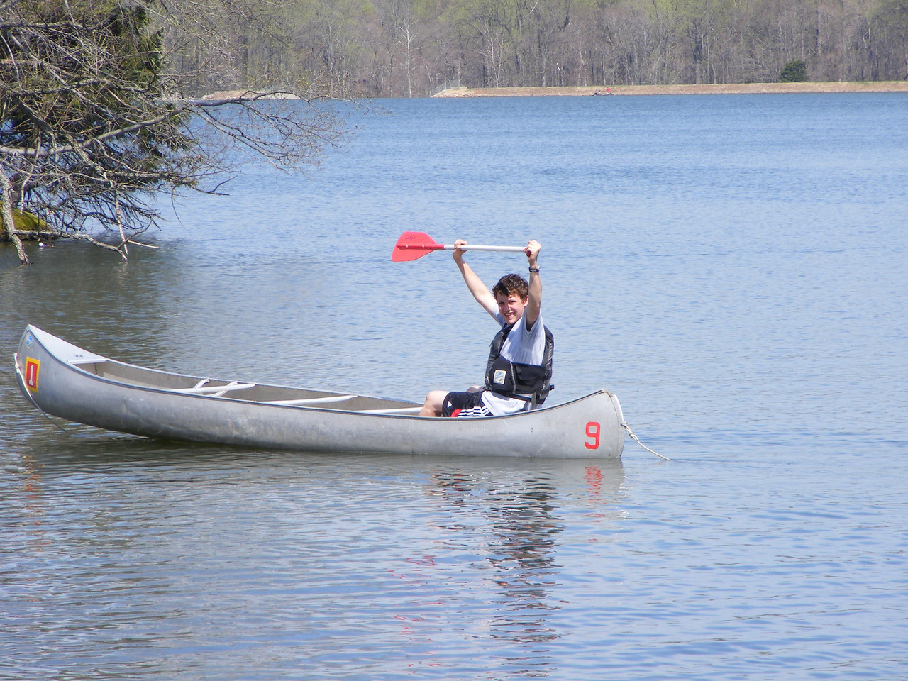 """""""I am sure if I hold this paddle up, I can catch some wind...."""""""