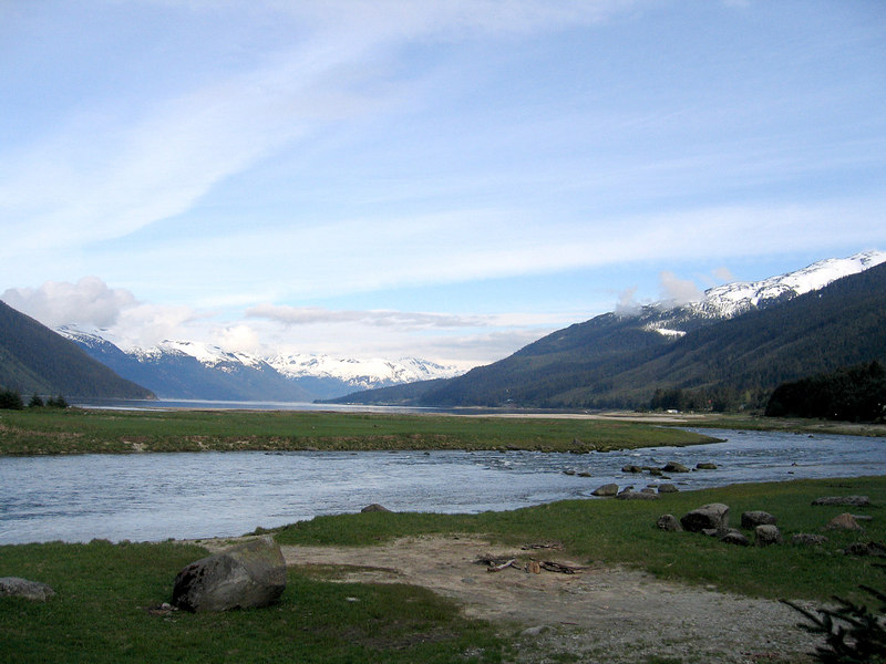 Chilkoot emptying into inlet
