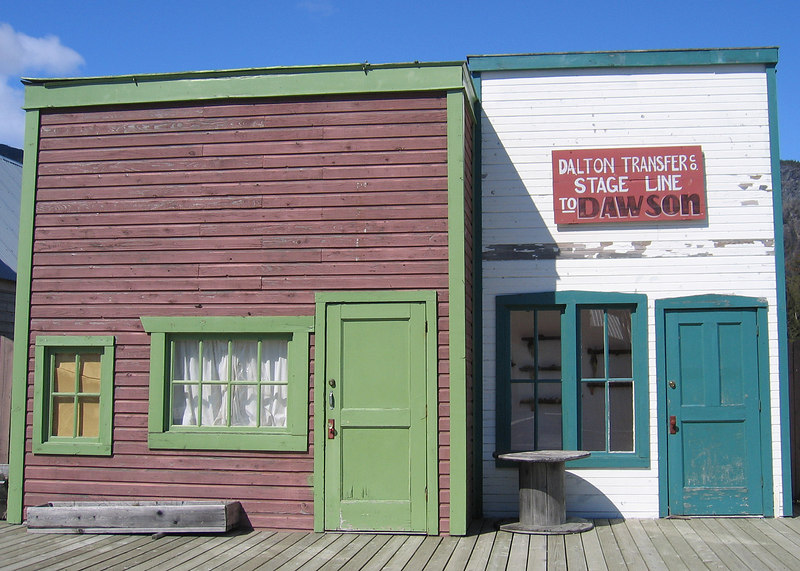 Dalton City and the White Fang movie set