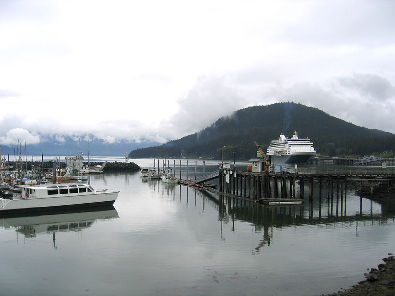 Cruise ships come into Haines
