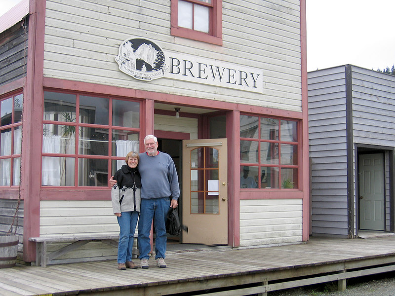 Susan and Mike at Haines Brewery