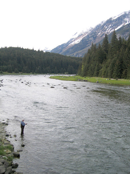 Mike fishing the Chilkoot River