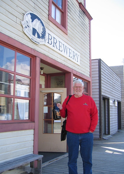 Mike at Haines Brewery