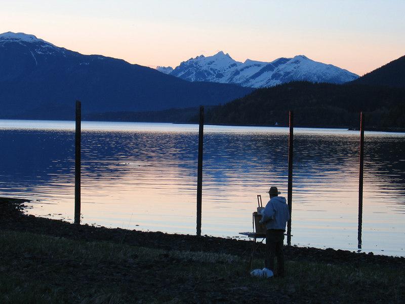 Artist at Chilkat Lake