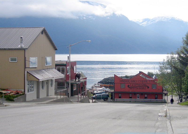 Downtown Haines towards Portage Cove