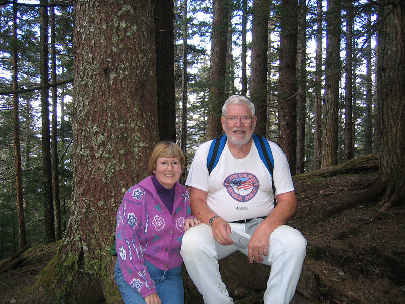 Mike and Susan at the Lily Lake intersection