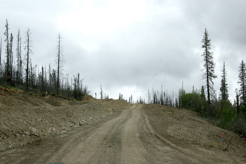 Rough and bumpy US Creek Road