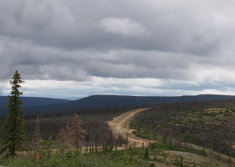 US Creek Road in distance