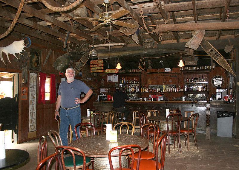 Mike inside the Malemute Saloon in Ester, AK
