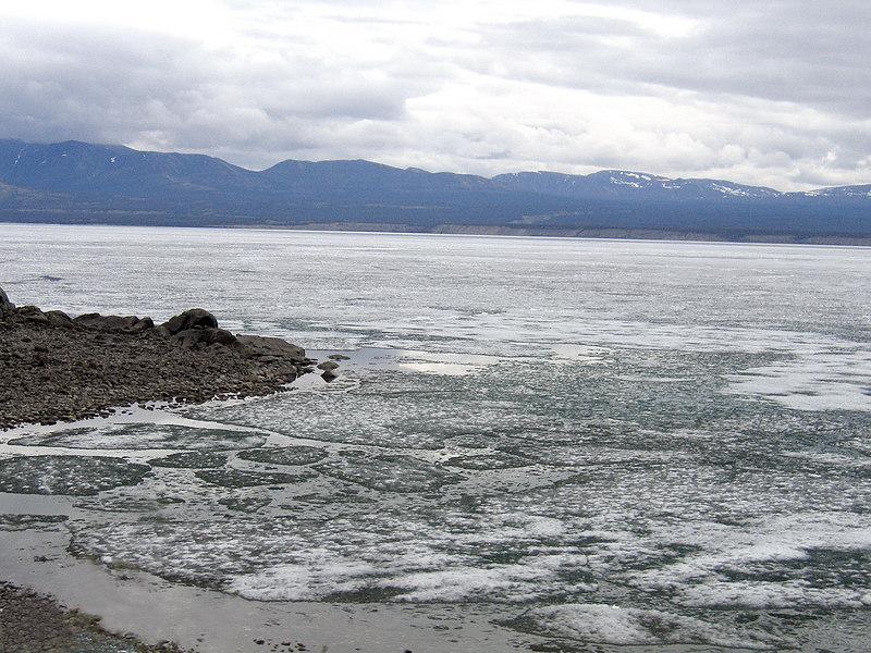 More ice on Kluane Lake
