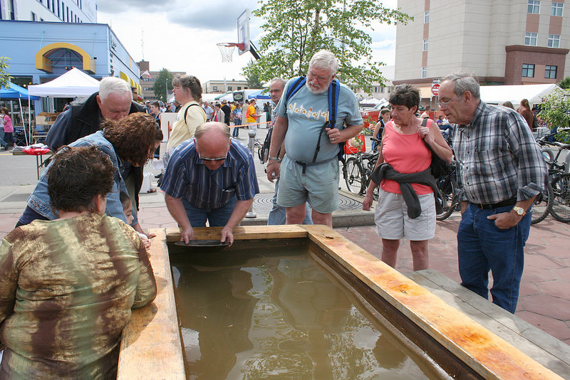 Gold panning downtown for Summer Solstice activities