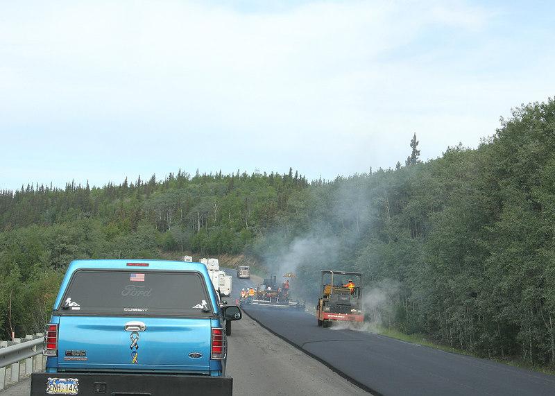Roadwork as we were leaving Fairbanks