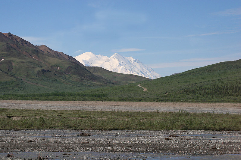 Denali about 30 minutes before Stoney Point Overlook