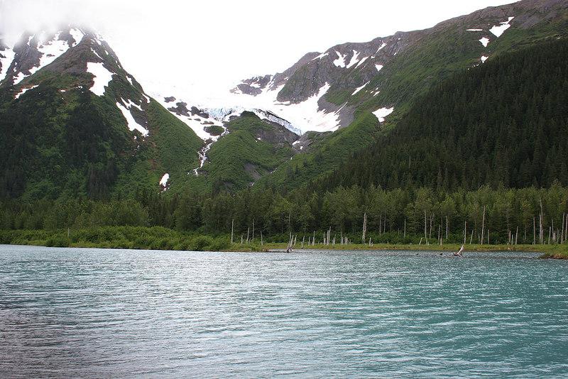 Explorer Glacier and lake