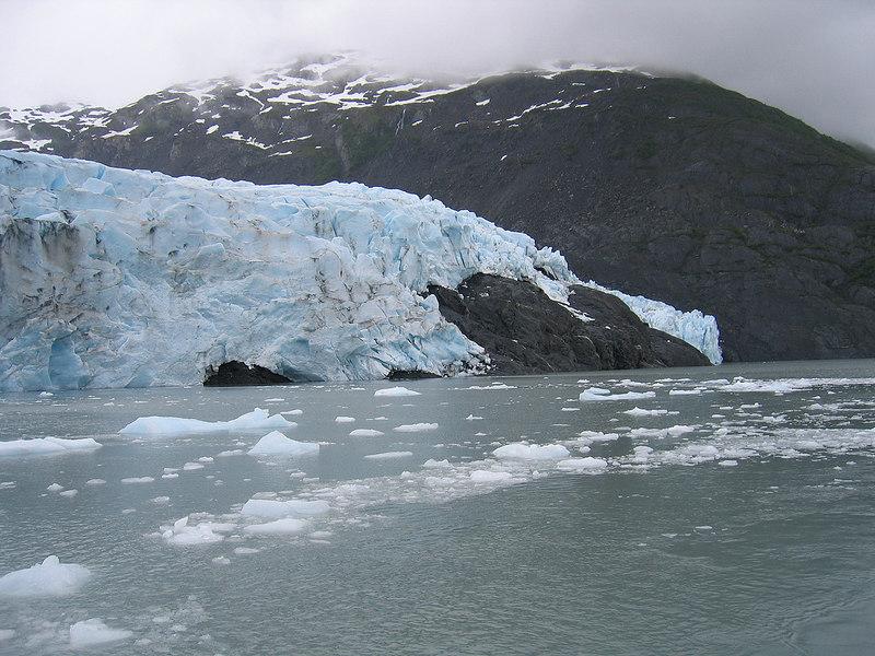 Portage Glacier and icebergs
