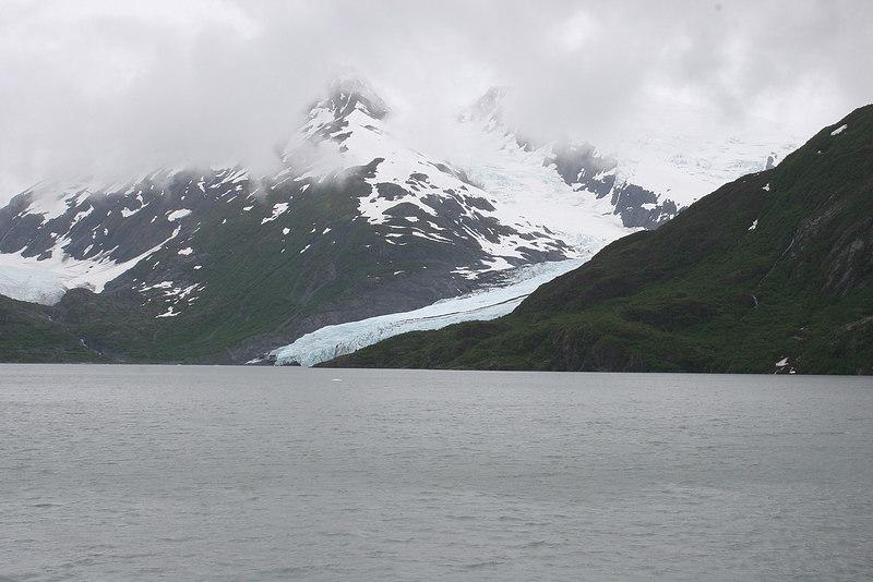 Portage Lake with Portage Glacier in distance