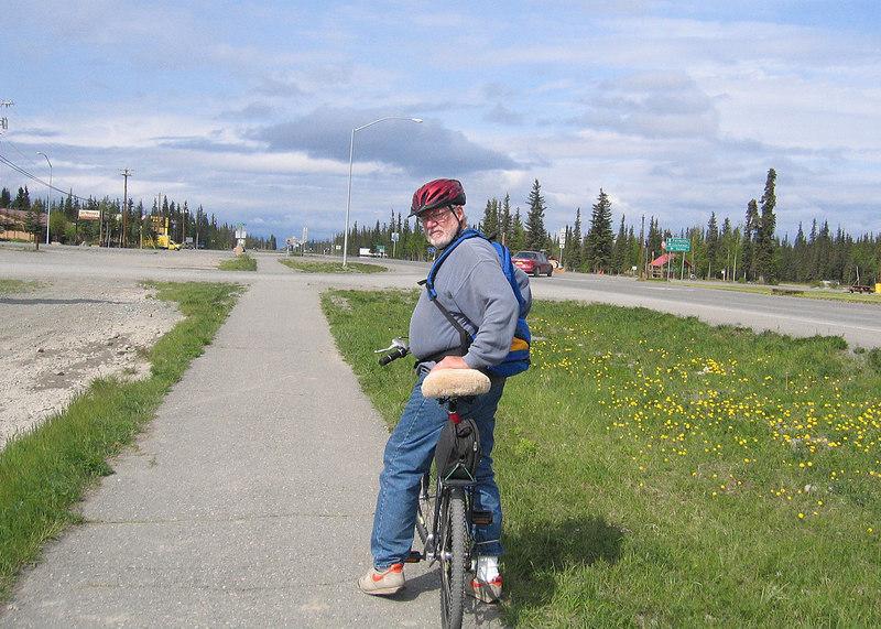 Mike on bike ride
